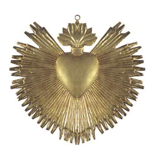 Coeur rayons gold