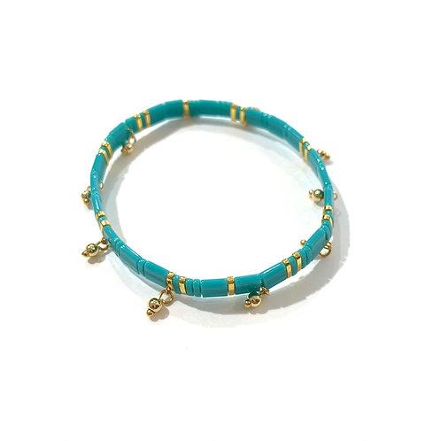 Bracelet pierres plates/pampilles
