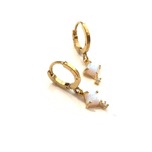 Mini boucles Opalines