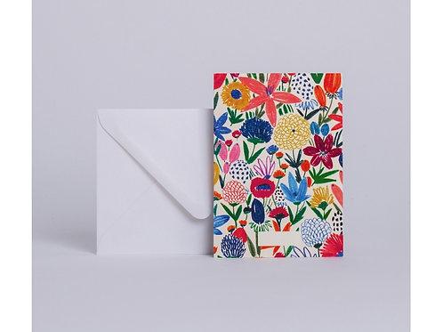 Carte fleurs sauvages