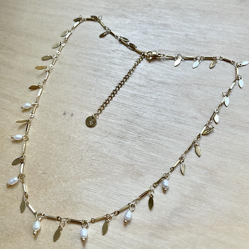 Collier pampilles et perles eau douce