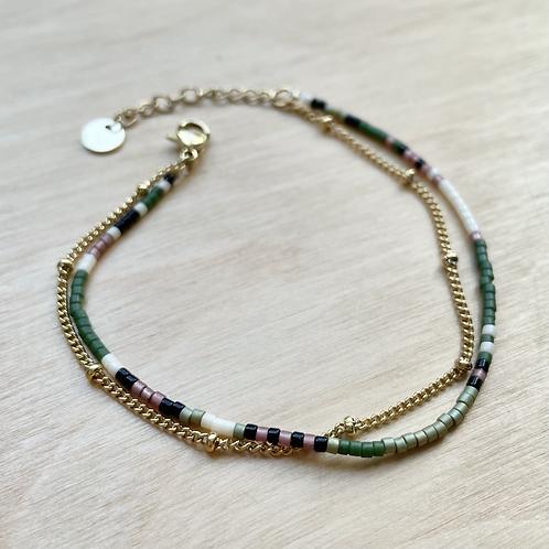 Bracelet miyuki multi et chaine