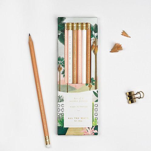 Lot crayons Palmsprings