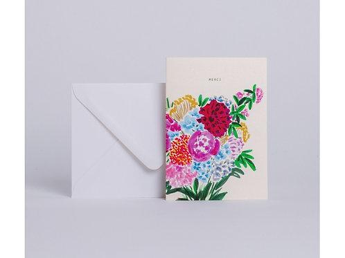 Carte bouquet merci