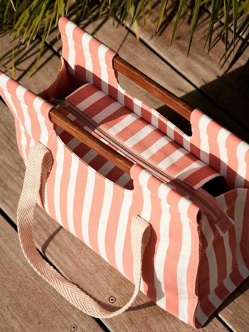 Grand sac wood rosa rayures