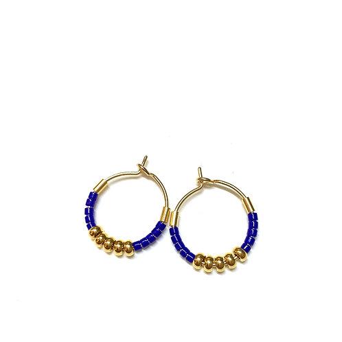 Mini créoles Sol bleues