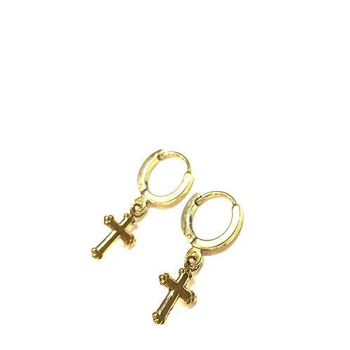 Boucles mini croix