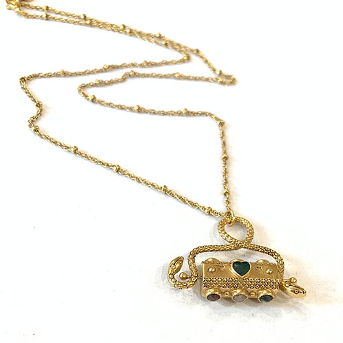 Collier Sacha talisman serpent