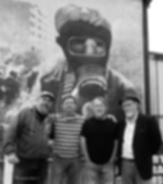 The Bogside Artists with their cousin Pa