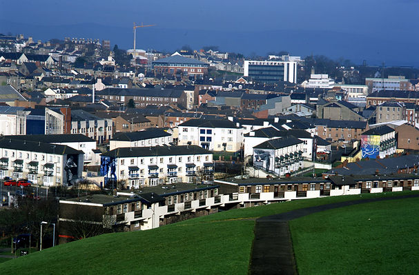 View of the murals in the Bogside, Derry