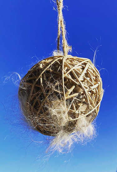 Natural Fiber Bird Nesting Ball