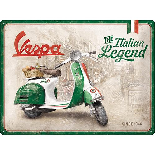 Vespa - Italian Legend Tin Sign 30 X 40cm