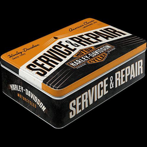 Harley-Davidson Vorratsdose, Harley Tin Box Flat, 16x7x23 Cm