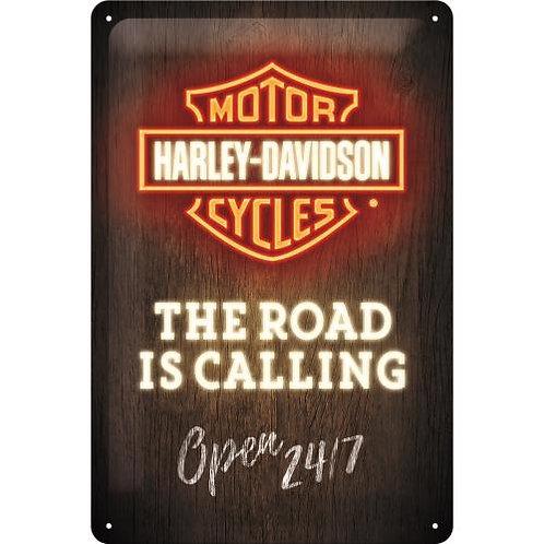 Harley-Davidson, NEON Design, Road is Calling 20x30