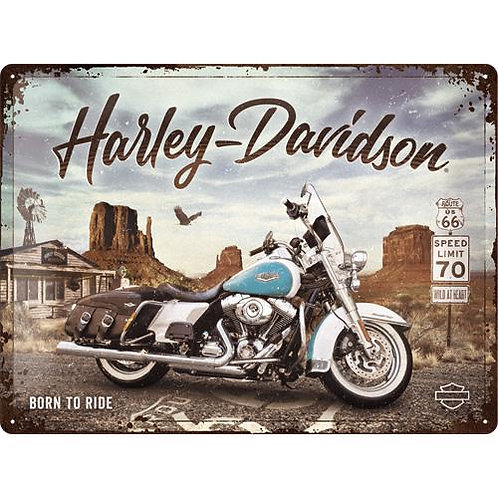 Harley-Davidson, Road King, Route66, 30x40 cm