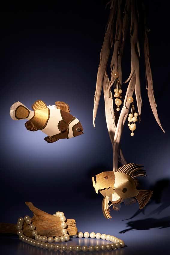 Papierdesign, paper art fish