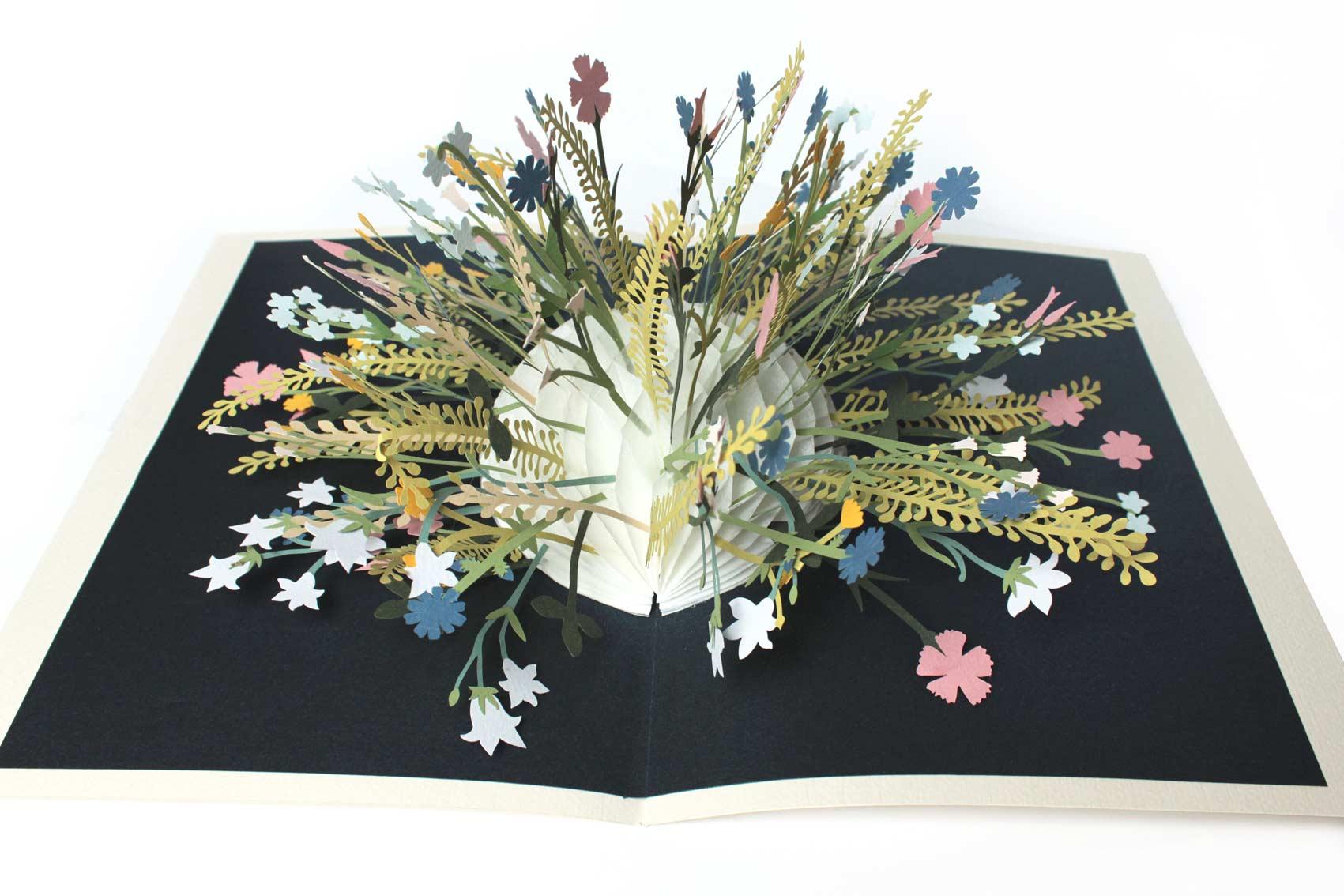 Pop up Blumen flowers, paper cut out