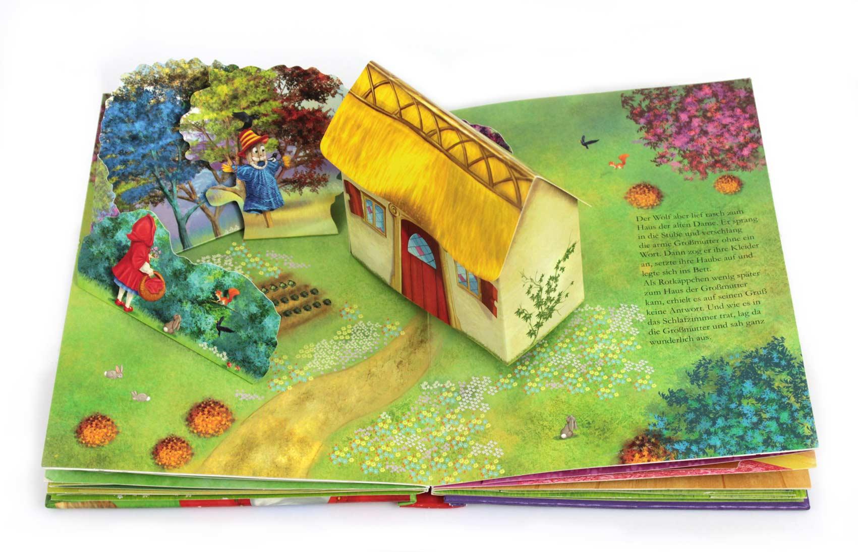 Rotkäppchen Pop up Buch