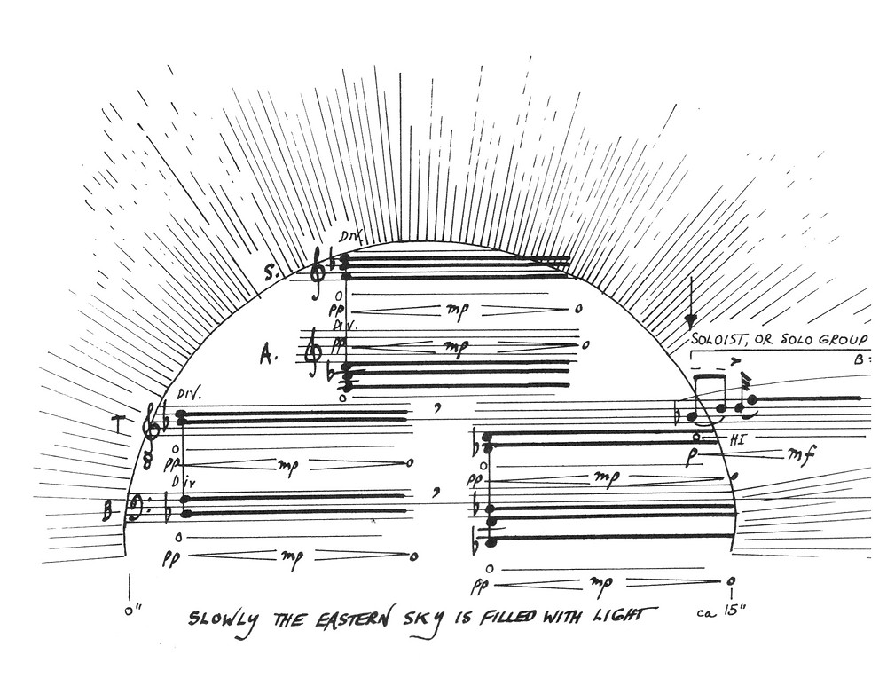 R Murray Schafer, graphic score : Sun (first 15 sec)
