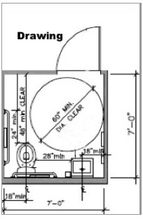 ADA Stall Lavatory Building Drawing