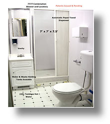 Shower/Toilet Combinations