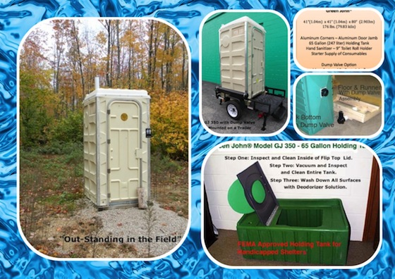 Model GJ 350 Portable Toilet