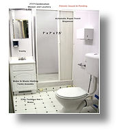 Shower, Toilet, Combination, Hot Water, Sewer, Holding Tank