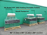 How folding portable toilet stores and ships