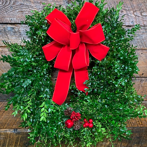 Decorated Boxwood Gift Wreath