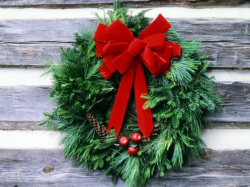 Decorated Mixed Gift Wreath