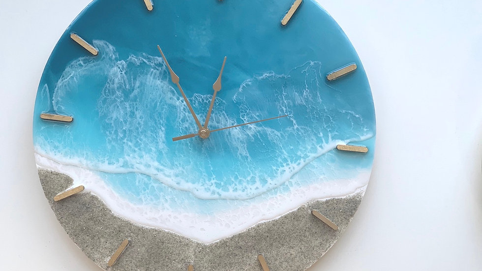 "16"" Island Time Wall Clock"