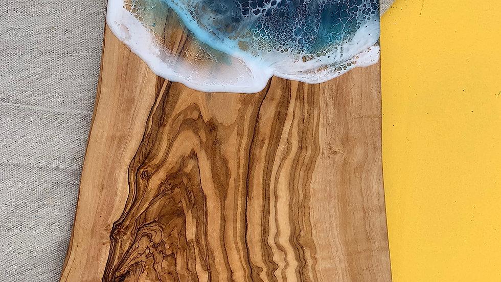 Natural Edge Olive Wood Serving Board