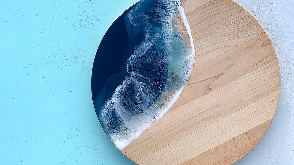 Classic Round Maple Serving Board