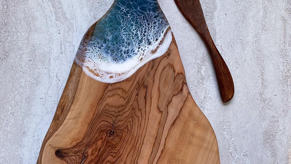 Live Edge Olive Wood Serving Board