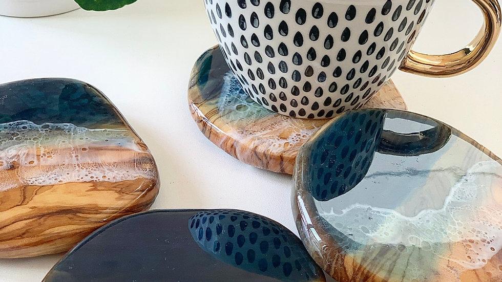 Olive Wood Coasters