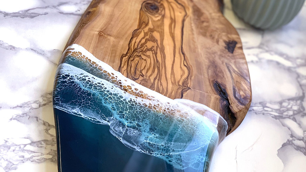 Natural Edge Olivewood Serving Board