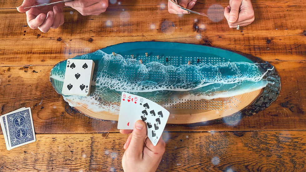 Four Player Live Edge Cribbage Board