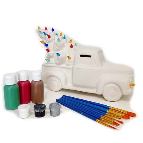 DIY Lighted Ceramic Tree Truck Paint Kit