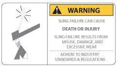 sling warning