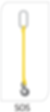 single leg bridle web sling