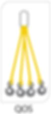 four leg bridle web sling