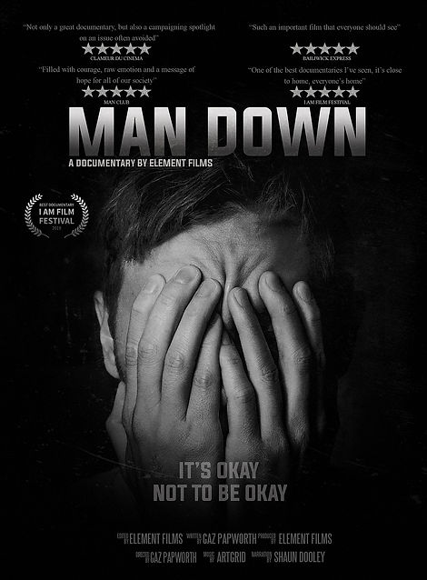 MAN DOWN POSTER - A documentary by Elements Films