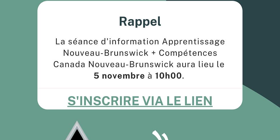 Sessions d'Information avec Apprentissage Nouveau Brunswick