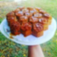 עוגת דבש בתבנית כוורת.JPG