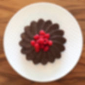 עוגת שוקולד בתבנית פרח.JPG