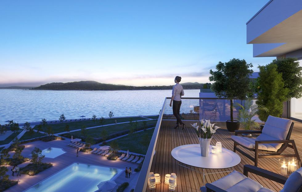 006_Balatonfured_Apartments_Balcony_Nigh