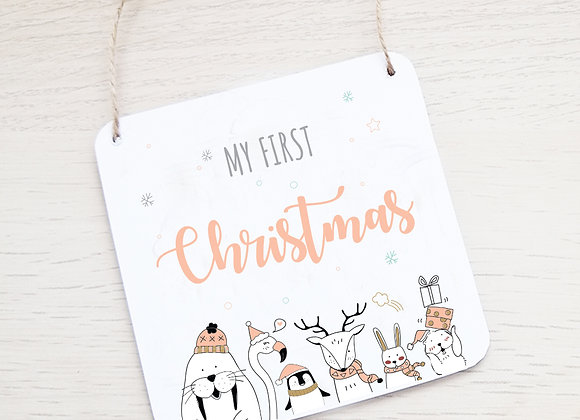 First Christmas plaque