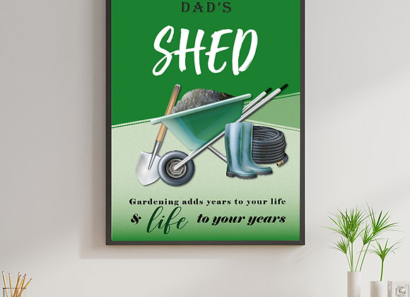 Dad's room print - shed