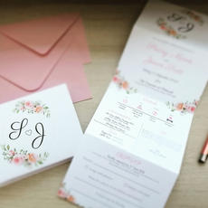 Concertina invitations