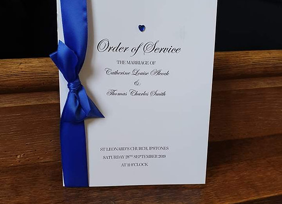 8 page Order of Service booklet